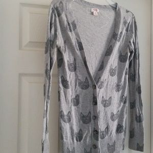 Mossimo cat cardigan with buttons